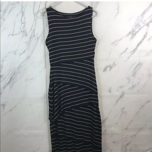 Bailey 44 Striped Layered Sleeveless Midi Dress